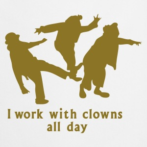 Weiß i work with clowns all day Schürzen - Kochschürze