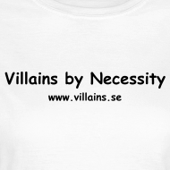 Design ~ Villains by Necessity - Black text - Women