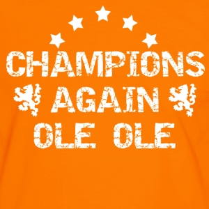Orange/white Champions Again Men's T-Shirts - Men's Ringer Shirt