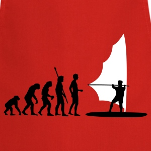Red evolution_windsurfer_2c  Aprons - Cooking Apron