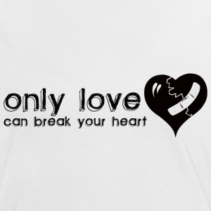 White/red Only Love Can Break Your Heart Women's T-Shirts - Women's Ringer T-Shirt