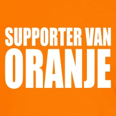 Orange/white Supporter van oranje Men's T-Shirts