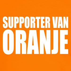 Orange/vit Supporter van oranje T-shirts - Kontrast-T-shirt herr