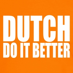 Orange/white Dutch do it better Men's T-Shirts