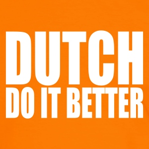 Orange/white Dutch do it better Men's T-Shirts - Men's Ringer Shirt