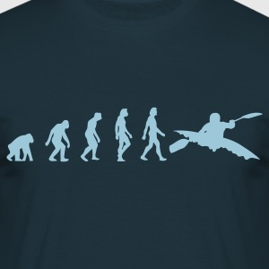 Navy Kayaking Evolution 1 (1c) T-shirts - Mannen T-shirt