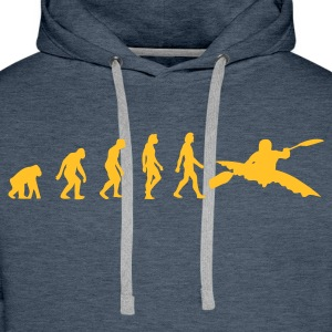 Brown Kayaking Evolution 1 (1c) Hoodies & Sweatshirts - Men's Premium Hoodie