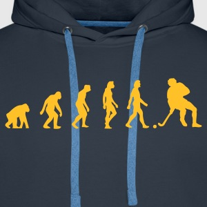 Navy Hockey Evolution 1 (1c) Hoodies & Sweatshirts - Men's Premium Hoodie