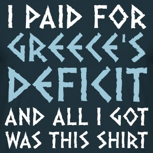 Navy Greece's Deficit This Shirt (2c) T-shirts - Mannen T-shirt