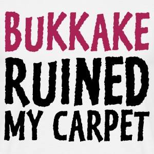 Hvid Bukkake Ruined my Carpet 1 (2c) T-shirts - Herre-T-shirt