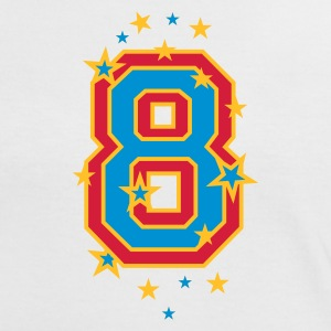 White/red The number eight, and stars Women's T-Shirts - Women's Ringer T-Shirt