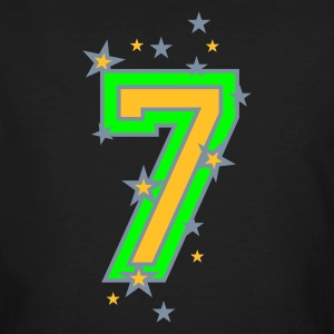 Black The number seven 7 with  stars  Men - Men's Organic T-shirt