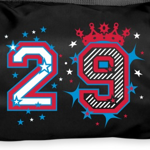 Black The number 2 and stars Bags  - Duffel Bag