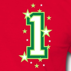 Red/green The number 1 Men's T-Shirts