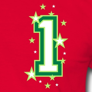 Red/green The number 1 Men's T-Shirts - Men's Ringer Shirt