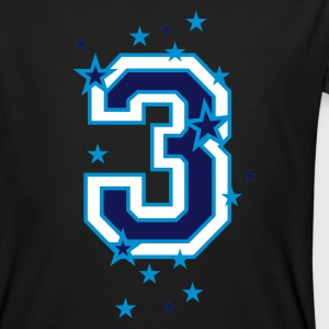 Black The number 3 and stars Men - Men's Organic T-shirt
