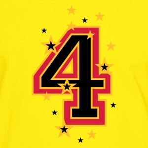 Yellow/green The number 4 and Stars Men's T-Shirts - Men's Ringer Shirt