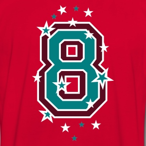Red/white The number eight, and stars Men's T-Shirts - Men's Ringer Shirt