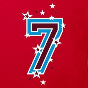 Red The number seven 7 with  stars  Kids' Shirts - Kids' Organic T-shirt