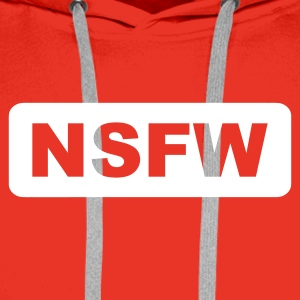 Rot NSFW - Not Safe For Work Pullover - Männer Premium Hoodie