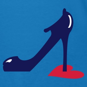 Bleu paon highheel step on heart (3c) Hommes - T-shirt bio Homme