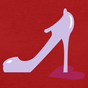 Lila highheel step on heart (3c) Bioprodukte - Frauen Bio-T-Shirt