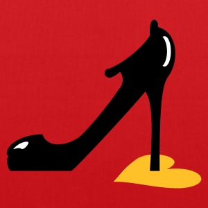 Rot highheel step on heart (3c) Taschen - Stoffbeutel
