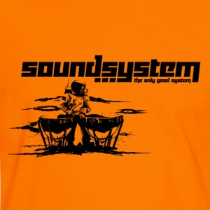 Orange/schwarz soundsystem T-Shirts - Männer Kontrast-T-Shirt