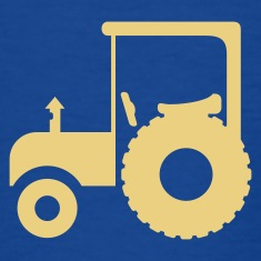 Royal blue Traktor / tractor (1c) Kids' Shirts