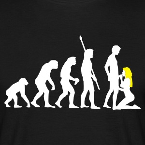Schwarz evolution_sucks_a_2c T-Shirts - Männer T-Shirt