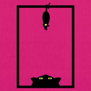 Magenta Katze 'n Maus im Fenster / cat 'n mouse in window (2c) Bags  - EarthPositive Tote Bag