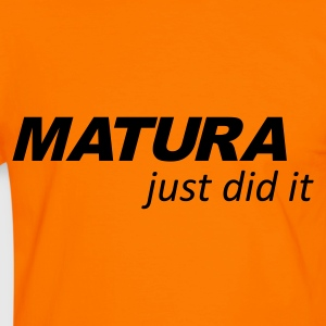 Orange/schwarz Matura -  Just did it T-Shirts - Männer Kontrast-T-Shirt