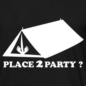 Zwart Place 2 Party T-shirts - Mannen T-shirt
