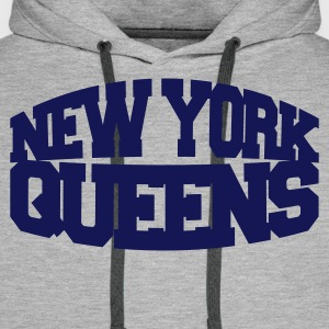 Gris chiné new york queens Sweatshirts - Sweat-shirt à capuche Premium pour hommes