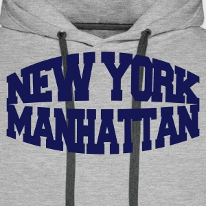 Gris chiné new york manhattan Sweatshirts - Sweat-shirt à capuche Premium pour hommes