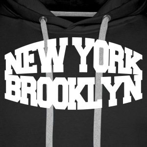 Noir new york brooklyn Sweatshirts - Sweat-shirt à capuche Premium pour hommes