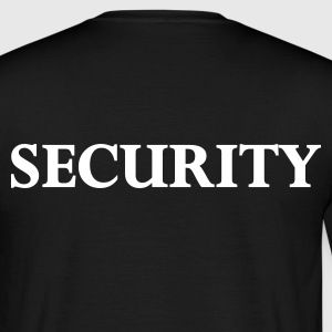 Noir security T-shirts - T-shirt Homme