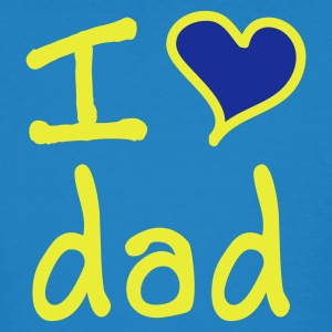 I love dad - Ekologisk T-shirt herr