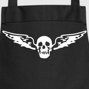 Black flying_skull_white_1c  Aprons - Cooking Apron