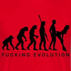 Red fucking_evolution Men's T-Shirts - Men's T-Shirt