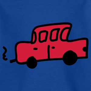 Royalblau Auto retro Kinder T-Shirts - Teenager T-Shirt