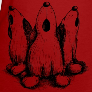 Dark red Hunde Blues Women's T-Shirts - Women's Organic T-shirt