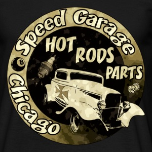 Noir Hot Rods Parts T-shirts - T-shirt Homme