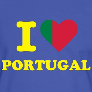 T-shirt Supporter Homme I Love Portugal - T-shirt contraste Homme