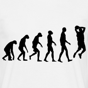 Weiß Evolution Basketball T-Shirts - Männer T-Shirt