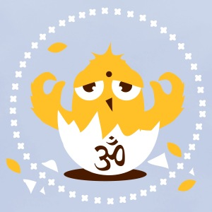 Sky blue zen meditation chick with Om sign Accessories - Baby Organic Bib