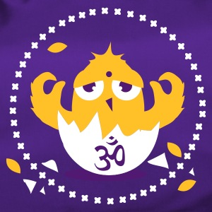 Purple zen meditation chick with Om sign Bags  - Duffel Bag