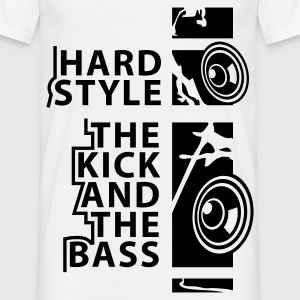 Weiß HARDSTYLE T-Shirts - T-shirt Homme