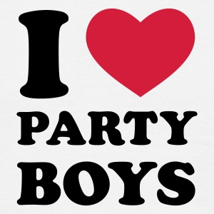 Weiß I Love Party Boys T-Shirts - Männer T-Shirt