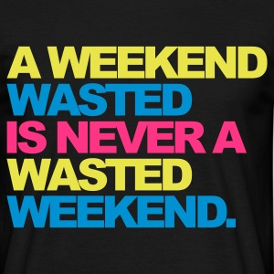 Zwart A Weekend Wasted 2 T-shirts - Mannen T-shirt